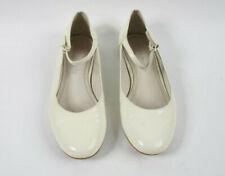 Russell & Bromley Blanco Correas en el tobillo Patente Zapatos De Ballet UK 6