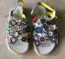 POM D'API NWT Multi-Color Flower/Crystal Sandals EURO 34 (US 2.5) Honestly TDF!