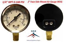 Air Compressor Pressurehydraulic Gauge 2 Face Side Mount 14 Npt 0 160 Psi