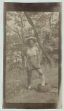 Unusual Snapshot Photo - Crossdresser - Man as Woman - gay - ca 1920
