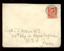 IRELAND 1917 RATHMINES D.O to BEF FRANCE...1d FRANKING