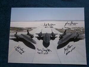 Blackbird SR71 multi signed 5 crew large photo COA UACC  AFTAL reg Dealer