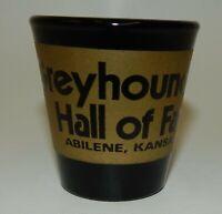Vintage Greyhound Dog Hall of Fame Abilene Kansas Souvenir Shot Glass