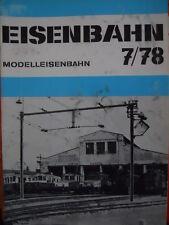 Eisenbahn Die Modelleisenbahn n°7 1978 -- Tr.22