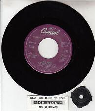 "BOB SEGER  Old Time Rock & Roll  7"" 45 record + juke box title strip NEW RARE!"