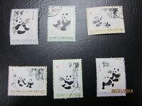 China,1973, N57-62, Scott#1108-1113 Pandas,. Full set, CTO,VF