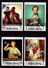 Dubai 1968 Mi.323/26 A fine used c.t.o. Gemälde Paintings Goya Manet Lawrence
