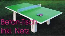 Beton-Tischtennistisch u. Netz neu, Outdoor Tischtennisplatte 2. Wahl
