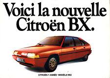 Catalogue publicitaire CITROEN 1983 BX 16 TRS 14 RS