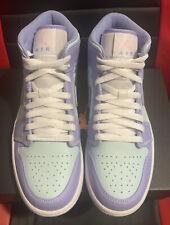 Air Jordan 1 Mid Purple Aqua Size 7.5(9w) 554724-500 Brand New