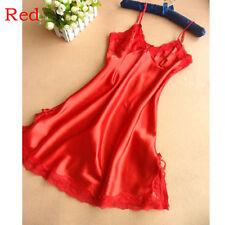 New Lingerie Women Silk Lace Robe Dress Babydoll Nightdress Nightgown Sleepwear