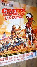 CUSTER homme de l'ouest ! affiche cinema western  indien 1966