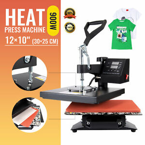 "12X10"" Digital Heat Press Machine Sublimation Transfer for T-Shirt Printer"