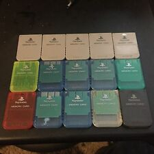 Qty:1 Official Sony Playstation Brand Memory Card Model SCPH-1020 Various Colors