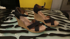 Toms Wedge Heel Sandals Size 8 Womens good condition Slingback