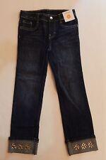 New Gymboree Gem Cuff Blue Denim Jeans 6 Year Snowflake Glamour Adjustable Waist