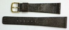 Seiko 20mm Brown Genuine Classic Lizard Authentic Watch Band Strap-NOS