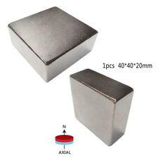 Hot Super Strong N52 High Quality Earth Neo Magnets Neodymium Block 40x40x20mm
