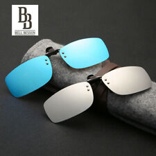 Sunglasses Polarized Clip On Driving Glasses Day/Night Vision Shade Lens UV400