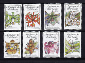 Antigua Barbuda 1990 Orchids SG1186 - 1193 Overprint OVPT MNH Lovely Condition