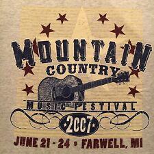 2007 Mountain Country Music Festival t-shirt-Farwell Mi-artist variety-New-(M)