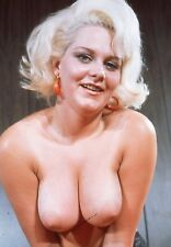 Vtg Color 1950s Photo Girl Pinup Naughty Hangers Boobs Busty Tits Risque #1360