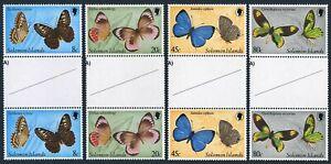 Solomon Isls 431-434 gutter,MNH.Michel 422-425.Butterflies,1980.Parthenos Sylvia
