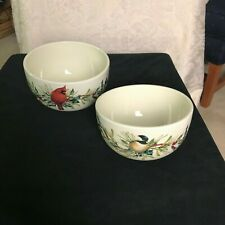 Lenox Winter Greetings - Set of 2 Stackable Bowls with Lids - New in Box