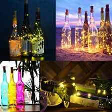 10PCS Wine Bottle Fairy String Lights 20LED Battery Cork For Party Wedding Xmas