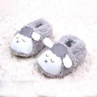 Toddler Baby Crawling Shoes Kids Plush Lamb Slippers Boy Girl Prewalker Trainers