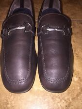Salvatore Ferragamo 'Nowell' Leather Driving, Size 10 1/2 EE, Brown Retail $495