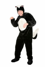 Skunk Adult Halloween Costume Animal Black White Mens Womens Plus Size 1X New