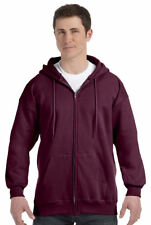 Hanes Men's Ultimate Cotton Pouch Pocket Long Sleeve Full Zip Hoodie. F280