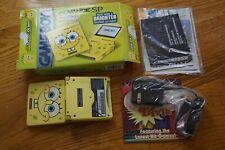 Spongebob Squarepants Nintendo Game Boy Advance SP Complete System GREAT Shape