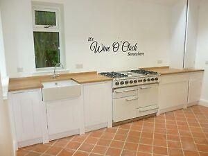 it's wine o' clock somewhere wall art sticker home kitchen lounge