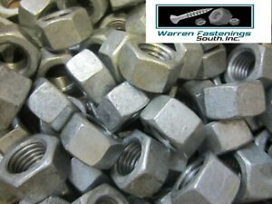 5/8-11 Finished Hex Nuts Hot Dipped Galvanized 100 Pieces
