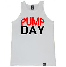 PUMP DAY GYM FITNESS WORKOUT YOGA DIET FLEX RUNNING TRAINING LIFTING TANK TOP
