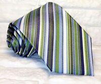 Necktie men striped 100% silk MADE IN ITALY jacquard tie Morgana brand business