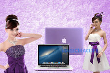 To fit For Apple macbook Air Pro White Satin Hard Case Rubberized keyboard Cover