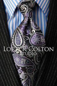 Navy /& Red Stripe Woven Necktie Lord R Colton Studio Tie $95 Retail New