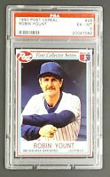 1990 Post Cereal #26 Robin Yount Milwaukee Brewers HOF PSA 6 Ex-MT Low Pop