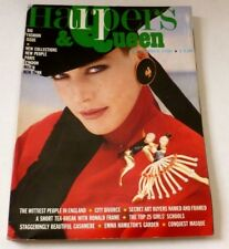 Harpers and Queen - September 1986   VINTAGE WOMENS MAGAZINE