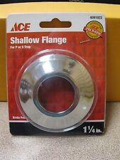 """ACE Hardware SHALLOW FLANGE #4091922 1-1/4"""" for P or S Trap  New Free Shipping"""