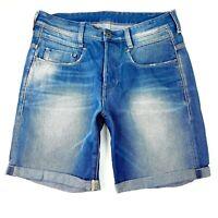 G Star Raw New Radar Low Loose Men's Size 31 Blue Button Fly Denim Jean Shorts