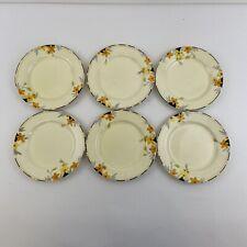 Crown Ducal Sunburst Set Of 6 7 Inch Side Plates   Stunning   England
