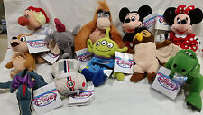 DISNEY- Mini Bean Bags Various Disney characters  W/TAGS