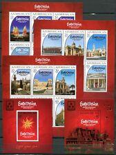Aserbaidschan Azerbaijan 2012 Eurovision Song Contest Musik Block 110-114 MNH