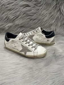 Golden Goose Superstar Low Top Sneakers Women's White Suede Star Shoes Size 36