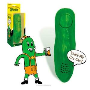 """YODELLING PICKLE  5-1/4"""" Electronic Gag Gift - Archie McPhee"""