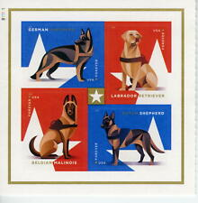 Military Working Dogs Plate Block 8 Stamps Total Sc 5408a  MNH